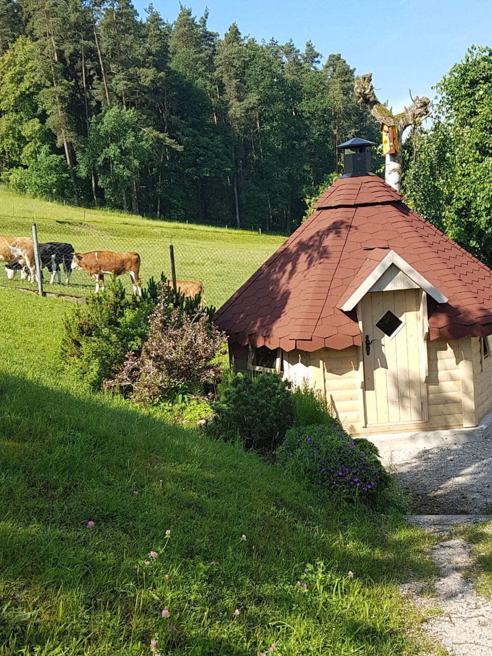 Grillhütte mit Weide